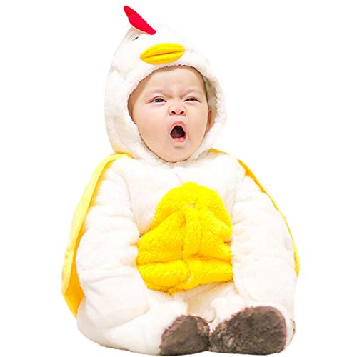 Gaga city Baby Flanell Strampler Footies Tiere Karneval Halloween Kostüm Kapuzenoverall Herbst Winter Kleidung Unisex
