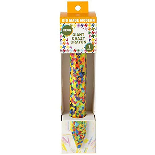 Art Supplies - Kid Made Modern Giant Crazy Crayon - 15 Neon Colors Molded Into ONE Crayon