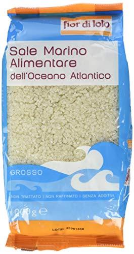 Fior di Loto Sale Atlantico Grosso Scuro - 1000 gr - [confezione da 12]