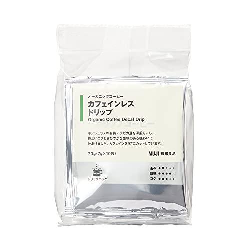 無印良品 オーガニックコーヒー カフェインレス ドリップ 70g(7g×10袋) 82198539
