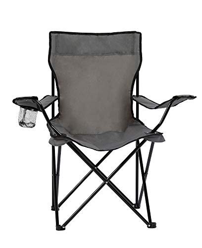 Homewell Portable Folding Chair for Outdoor Beach and Camping Grey 1 Pack