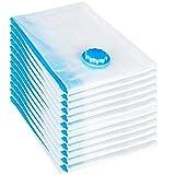 YANLINMY Bolsas de Almacenamiento al vacío Hot 12 PCS Establece Bolsa de vacío 60x40 cm Bolsa de Almacenamiento Saco Bolsa de vacío (Color : Clear, Size : M)