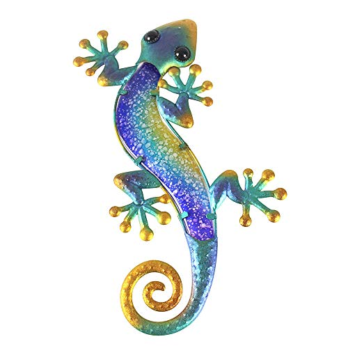 Liffy Gecko Arte de pared Lagarto decoración exterior jardín