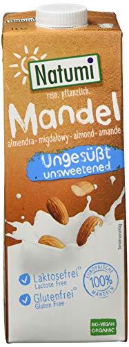 Natumi Mandeldrink Ungesüßt Bio Vegane Milchalternative, Nuss, 1 ltr (6er Pack)