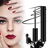 Magnetic Eyeliner, Magnetic Eyeliner and Lashes, Waterproof Black Smooth Liquid Eyeliner and 3D Reusable 5 Magnets False Lashes for Party Dating Wedding, Natural Look and Long Lasting