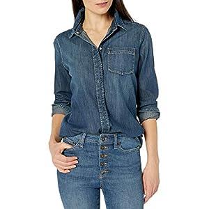 Women's Denim Long-Sleeve Boyfriend Shirt