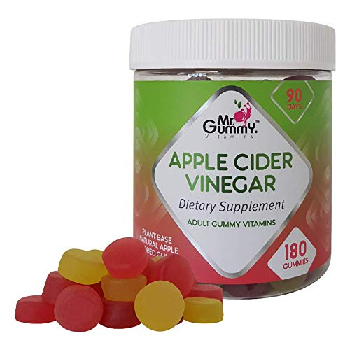 Mr Gummy Apple Cider Vinegar Gummies (180-Count) Promote Fast Fat Burning Weight Loss, Gentle Colon Detox and Cleanse   Appetite Suppressant for Women, Men
