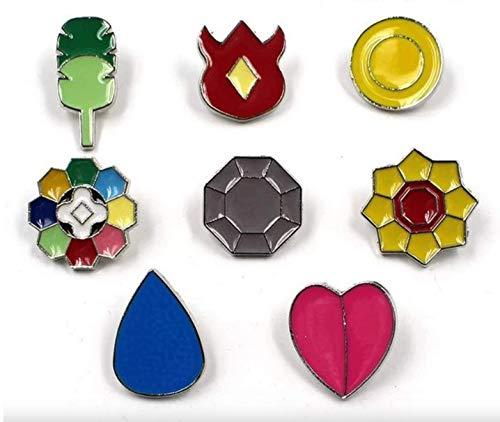 Gaming Pocket Monster Generation 1-6 Kanto Johto Hoenn Sinnoh Unova Kalos Gym Badges Collection - Elfenbein - Klein