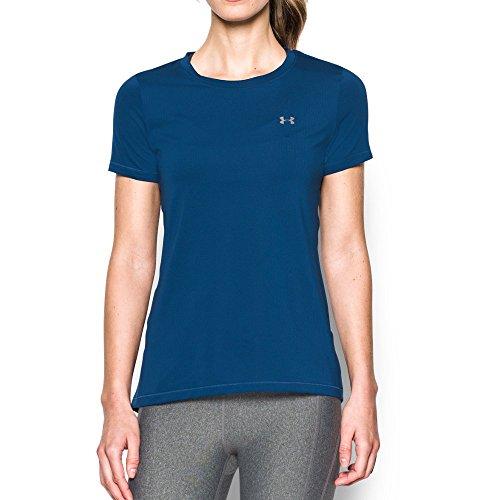 Under Armour Damen UA Hg SS Fitness-T-Shirts & Tanks, Heron, Gr. L Herstellergröße LG
