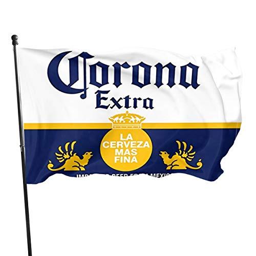 Garten dekorative Flaggen Fahnen Corona Extra Beer Logo Garden Flag Decorations for Home Decor House Yard Outdoor Party Supplies 4x6 Feet