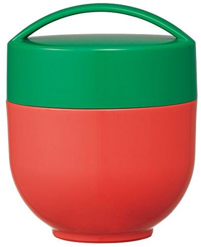 スケーター 保温弁当箱 丼型 ランチジャー 540ml マルシェカラー トマト LDNC6