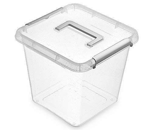Orplast NanoBox 13,0 L Silber Antibakterielle Aufbewahrungsbox Kühlschrankbox Lebensmittelbox Medikamentenbox Arzneibox Hygienisch Nanosilber Behälter Steril Box