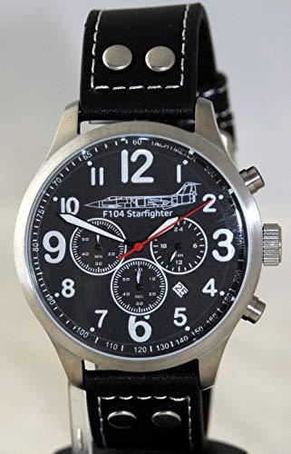 IMC Fliegeruhr Starfighter Männer Herren Chronograph Armbanduhr Uhr Lederarmband Gehäuse aus Edelstahl