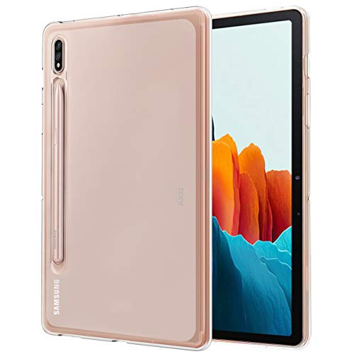 TiMOVO Case for All-New Samsung Galaxy Tab S7 11 Inch Tablet 2020, Slim Lightweight Matte Frosted TPU Back Cover Case Fit Galaxy Tab S7 Tablet (SM-T870/T875) - Clear