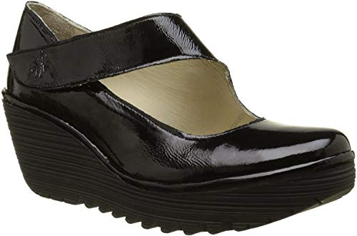 FLY London Womens YASI682FLY Black Luxor Clog - 42