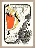ポスター アンリ ド トゥールーズ ロートレック Jane Avril 額装品 ウッドベーシックフレーム(オフホワイト)