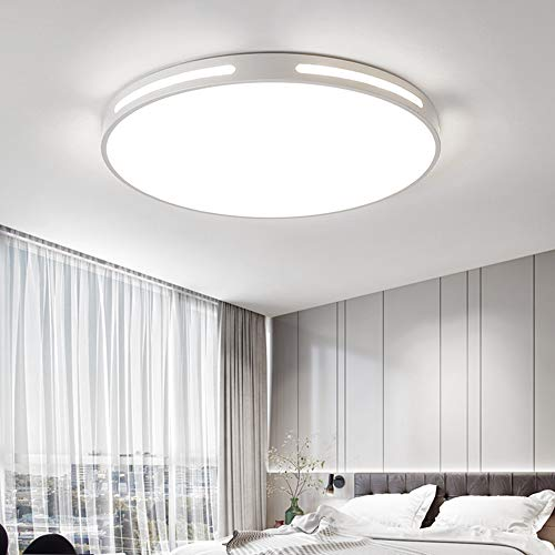 GGHKDD - Plafoniera a LED rotonda, 30 W, 42 cm, luce bianca monocromatica moderna, 6500 K, ideale per bagno, cucina e soggiorno