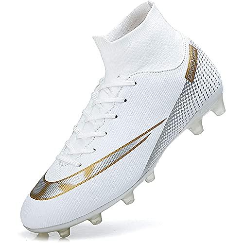 LucaSng Zapatos de Fútbol Hombre Spike Aire Libre Profesionales Atletismo Training Botas de Fútbol Ligero Tacos Fútbol Zapatos de Deporte Unisex niños