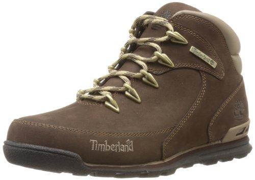 Timberland Euro Rock Hiker, Botas Hombre, Marrón Medium Brown Nubuck, 42 EU