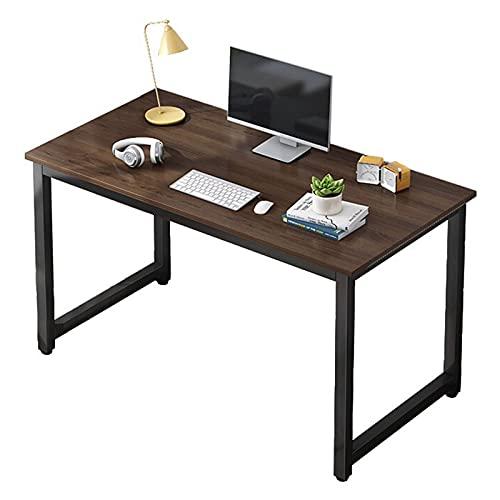 Escritorio de computadora Mesa de escritorio industrial de 47 pulgadas Escritorio de estudio de trabajo robusto Escritorio simple para juegos de PC para estación de trabajo de oficina en casa,Marrón