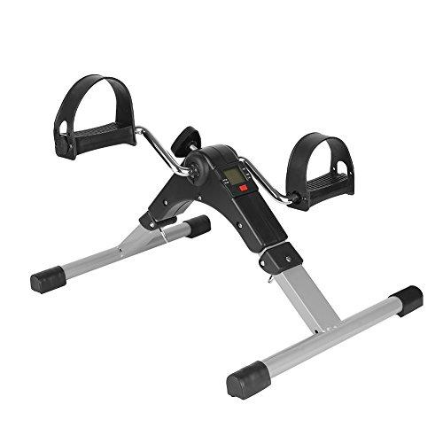 YIZHE Cyclette Pedaliera Cyclette Pieghevole, Mini Bike Esercizio Pedale per Il Recupero di Braccia e Gambe, Pedale della Bici con Monitor LCD, Resistenza Regolabile