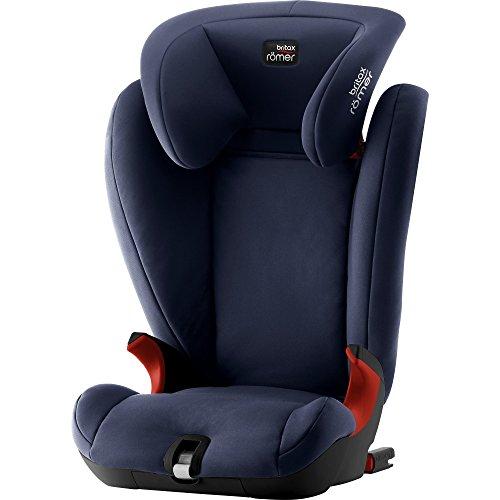 BRITAX RÖMER Kindersitz KIDFIX SL BLACK SERIES, Sitzerhöhung mit Rückenlehne und ISOFIX für Kinder von 15 - 36 kg (Gruppe 2/3), 3,5 bis 12 Jahre, Moonlight Blue