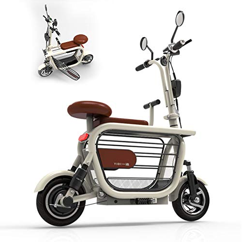 Erwachsene Pedal Folding Mini Pedal Electric Carelectric Bike Zweirad-Ultra-Leicht-Roller 48V10AH Lithium-Batterie,...