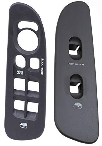 SWITCHDOCTOR Window Master Switch Bezel & Front Passenger Bezel Medium Slate (Gray) for 2002-2009 Dodge Ram (4 Door)