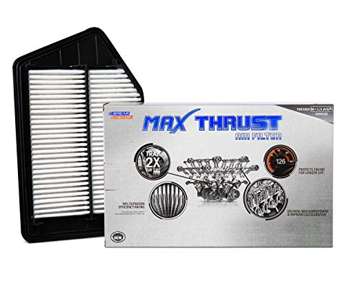 Spearhead MAX THRUST Performance Engine Air Filter For Low & High Mileage Vehicles - Increases Power & Improves Acceleration (MT-476)