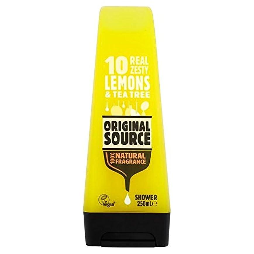 大臣きつく軽食元のソースのレモンシャワージェル250ミリリットル x4 - Original Source Lemon Shower Gel 250ml (Pack of 4) [並行輸入品]