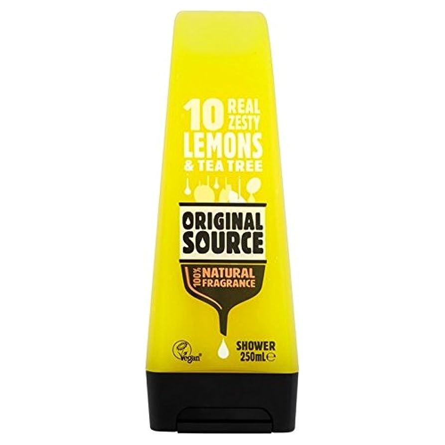 枕尊厳小説家元のソースのレモンシャワージェル250ミリリットル x4 - Original Source Lemon Shower Gel 250ml (Pack of 4) [並行輸入品]
