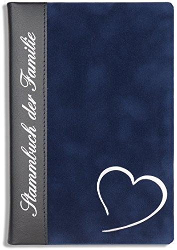 Stammbuch Leder Grand Coeur Blau Hochzeit Familienstammbuch