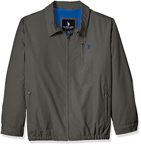 U.S. Polo Assn. Men's Tall Micro Golf Jacket, Thompson Khaki, 3X Big