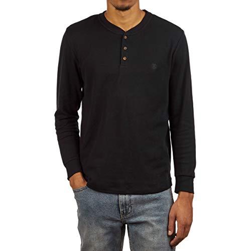 Element Unisex-Erwachsene Barry Long Sleeve Knit Hemd, Flint Schwarz, X-Groß