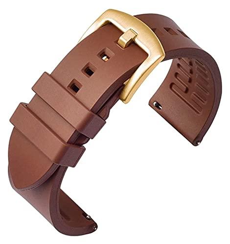 FETTR Correa de reloj de silicona de 19 mm, 20 mm, 21 mm, 22 mm, 24 mm, correa de reloj de liberación rápida deportiva de silicona