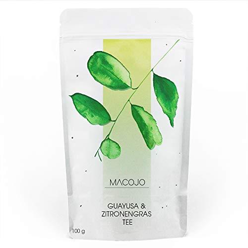 Guayusa Zitronnengras-Tee - Premium lose Blätter feinschnitt - 100% Natürlich, Nachhaltig und Vitalisierend - das Wunder aus dem Urwald Ecuadors - perfekte Kaffee-Ersatz - MACOJO