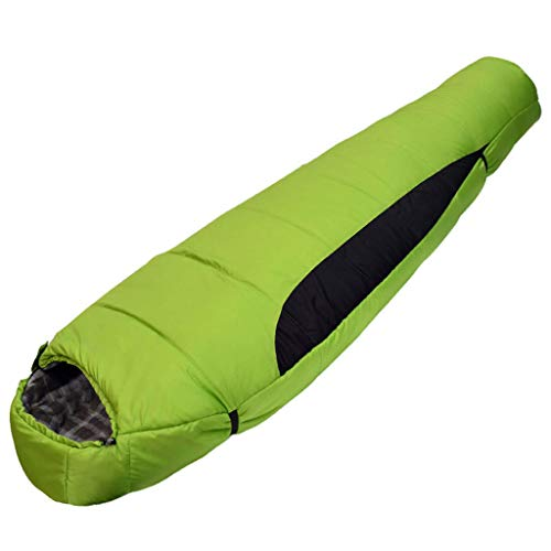 DIMPLEYA Mummy Sleeping Bag 350 GSM Filling Keep Warm 300T Polyester Taffeta Tear Resistance Best Ideal for Outdoor Camping Hiking Includes Waterproof Portable Carry Bag,Green