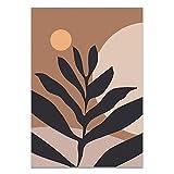 Sijifacai Moderna abstrakta tropiska växter Blommardukmålning Geometri Konst Nordiska affischer Och tryck Väggbild Vardagsrum Heminredning 50x70 cm (19,68x27,55 in) B-120