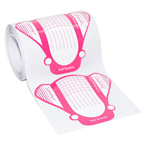 1 paquet (Lot de 50) autocollantes Butterfly rose modellier pochoirs extra large pour la Faux Ongle de modelage