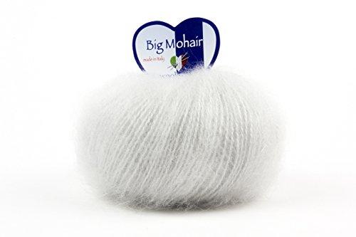 Big Mohair, 45% Mohairgarn, 45% Wolle, 10% Polyamid, sehr weich im Griff, Garn von ausgezeichneter Qualität zum Stricken, Häkeln, Weben usw.