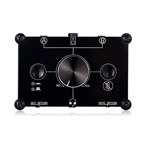 Nobsound MC1024 Commutateur micro 2 voies pour microphone et haut-parleur, 3,5 mm, 4 pôles, sélecteur MIC A&B