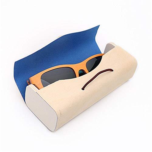 Caja de Almacenamiento de Gafas de Sol Lentes de Sol Organizador Collector Modernas Gafas de Sol de bambú de Almacenamiento Caso Eyewear Display Box Organizador de anteojos