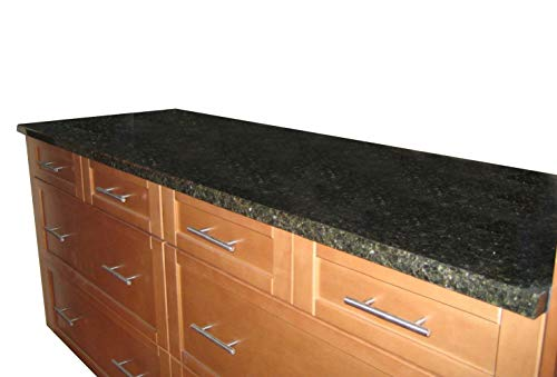 """FAUX DECOR Instant Peel and Stick Self Adhesive Vinyl Film for Kitchen Countertop 36"""" x 144"""" Black UBA TUBA Granite Marble NOT Paint? Not Your Grandma's Contact Paper!"""