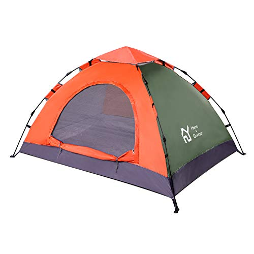 S.Y. Home&Outdoor Lightweight Camping Pop Up Tent for 2 Person Camping Hydraulic Tent Hiking Waterproof Backpack Tent - OrangeGreen