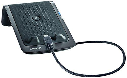 Gigaset LM550 Ladestation (geeignet für Android Smartphones - Anrufweiterleitung vom Handy auf das Dect-Telefon zuhause, Schnelllade-Funktion) schwarz