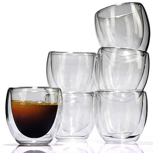 6 Vasos espresso (80 ml) - de doble pared - de LVKH