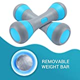 CDEN Dumbbell Set, Weight Adjustable, No-Screw Needed, Fitness Home Exercise(Blue 4.5Lb Set)