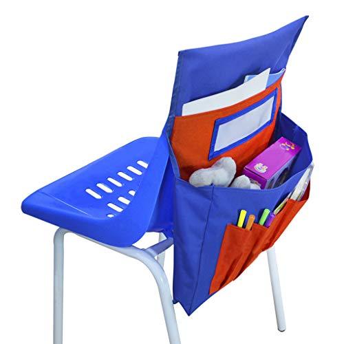 Klas stoel Pocket Organizer Seat Companion met Naam Tag Slot, Kids School Supply Stoel Terug Opslag Zakken Buddy Opknoping Opbergtas voor Klaslokaal/Dagopvang/Homeschool