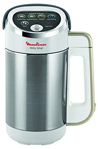 Moulinex Easy Soup Frullatore riscaldante 5 programmi automatici a doppia parete capacità 1,2 L frullatore zuppa vellutata Compota mantenimento al caldo apparecchio a zuppa 1000 W inox LM841B10