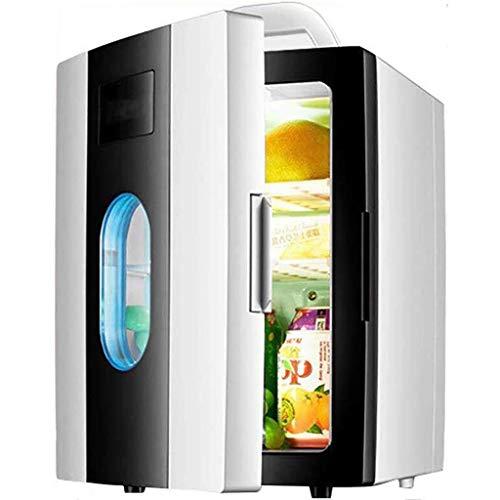 Elektrische koelkast stille desktop minibar mini-koelbox Car Home 10 liter draagbare koelkast koeler en warme autokoelkast met venster (kleur: B)